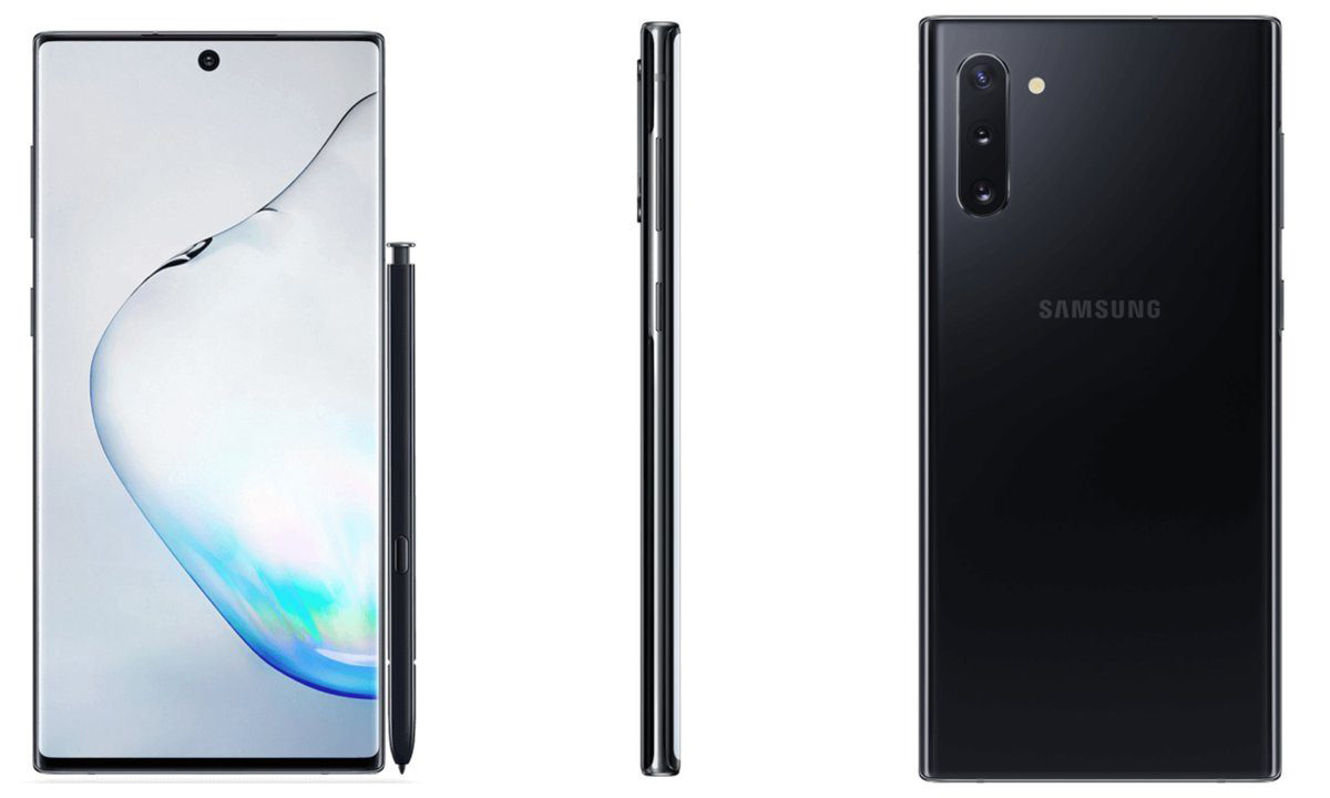 Samsung Galaxy Note 10 系列新渲染图
