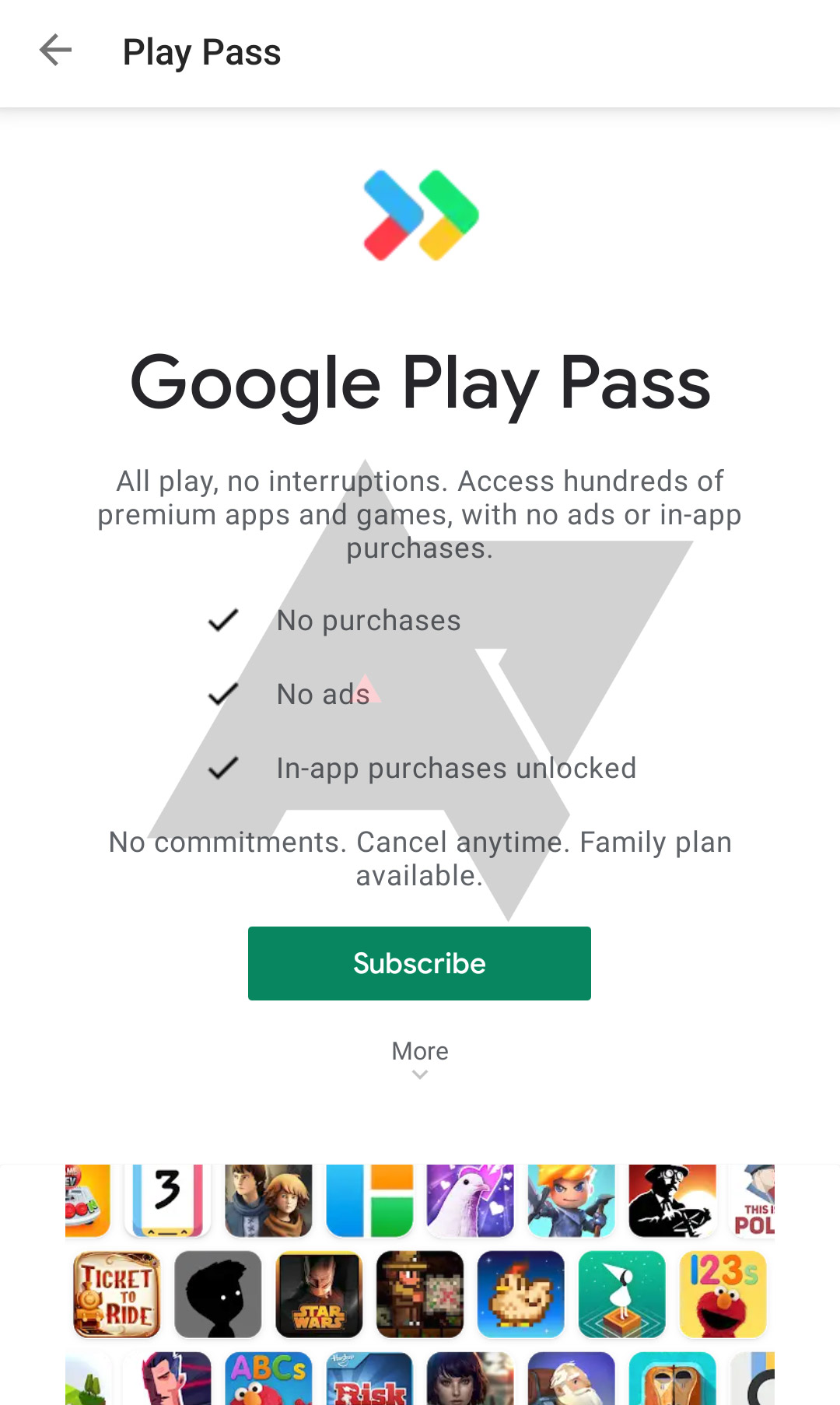 Google Play Pass 即将推出