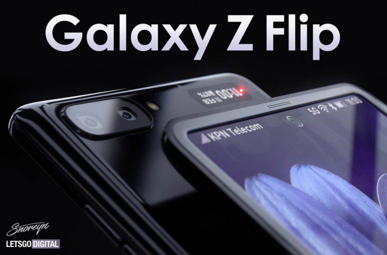 Samsung Galaxy Z Flip渲染图曝光