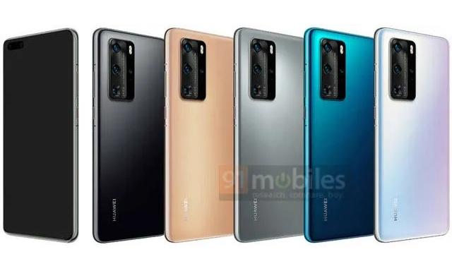 Huawei P40系列渲染图和相机配置曝光 1