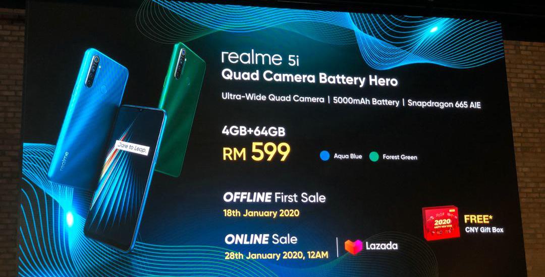 大马realme 5i、realme Buds Air发布,售价RM299起 5