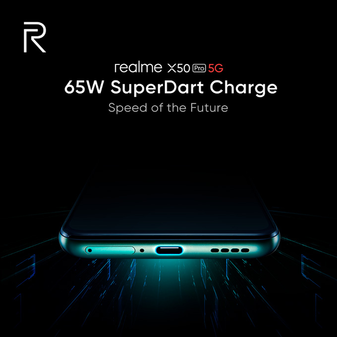 realme X50 Pro 5G将搭载SuperDart 65W快充