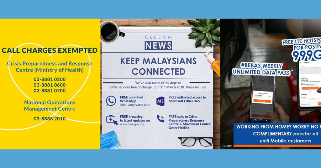 大马各大Telco提供了什么优惠与支援