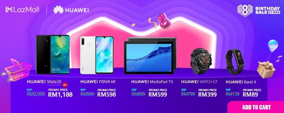 Huawei x Lazda周年庆促销:Mate 20 只卖RM88?! 1