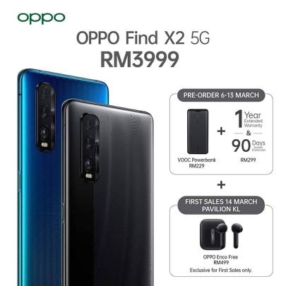 大马OPPO Find X2系列发布,售价RM3999起