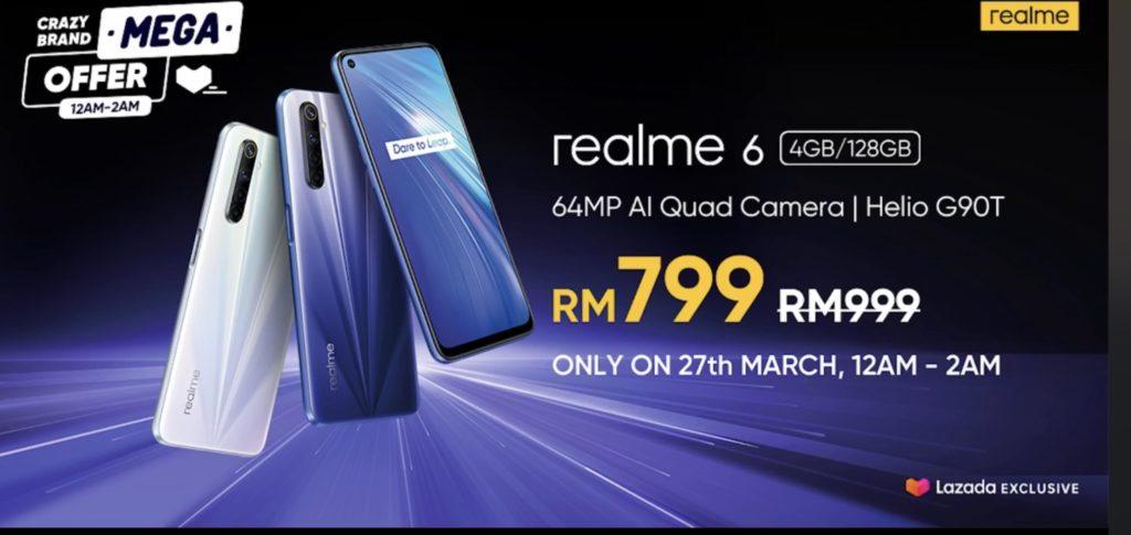 大马realme 6正式发布,售价RM999,预购折RM200!