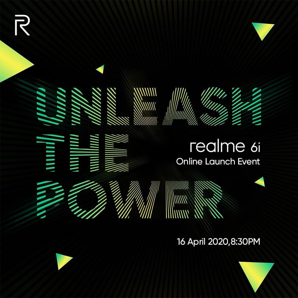 大马realme 6i将在4月16日
