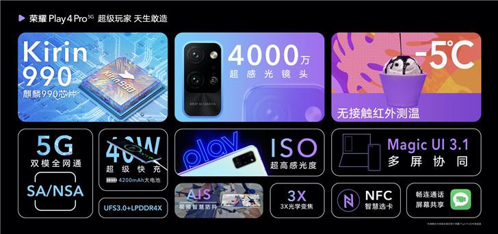 荣耀Play 4、Play 4 Pro中国发布,售价约RM1072起 2