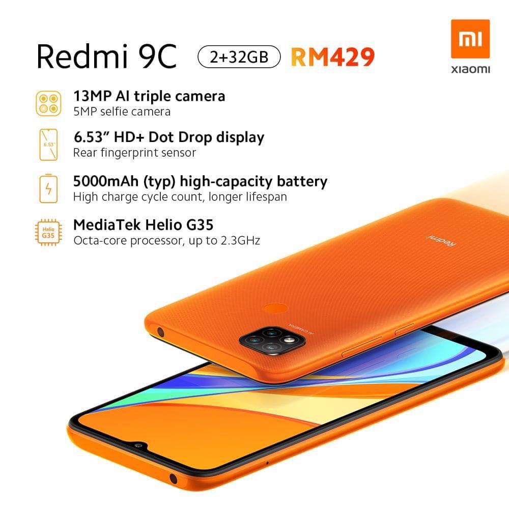 大马Redmi 9A、9C发布,售价RM359起 1