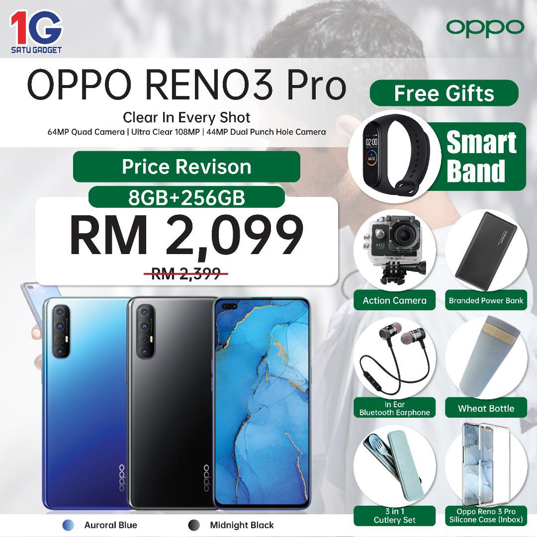 大马OPPO Reno 3 Pro火速降价RM300