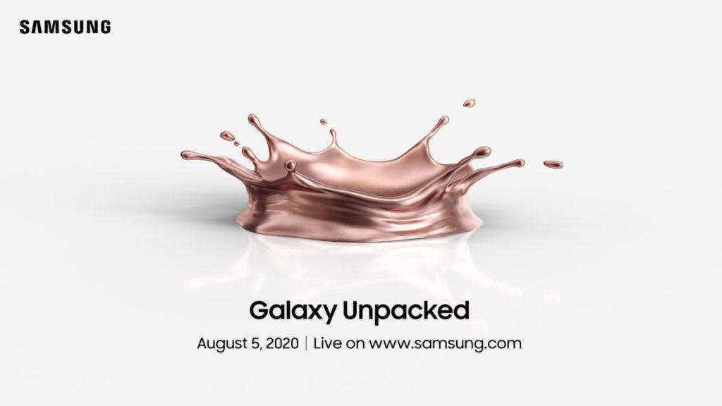 三星Galaxy Note 20系列将在8月5日发布