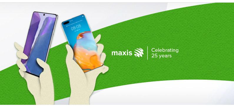Maxis RM25手机无需绑月费
