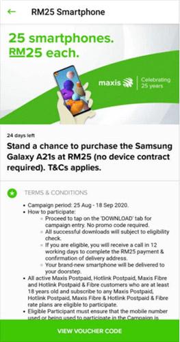 Maxis RM25手机无需绑月费,引起网民哄抢! 1