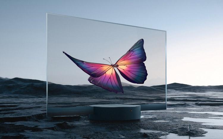 小米全球首发透明电视