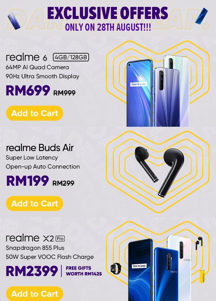 realme超级品牌日8月28日开跑:买手机送高达RM1425赠品! 7