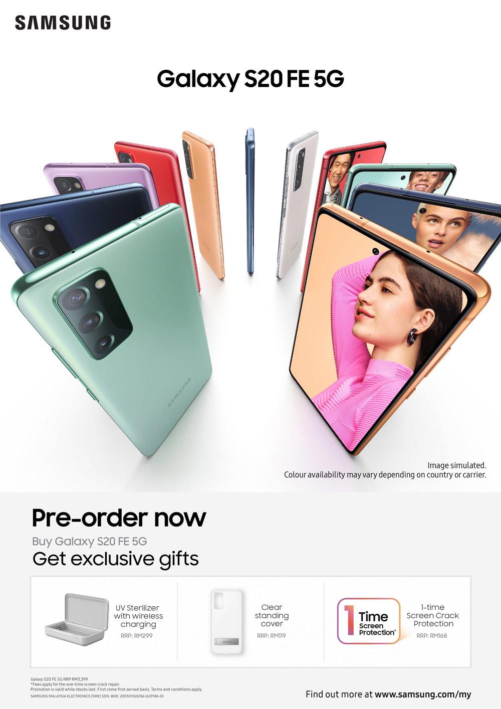 大马三星Galaxy S20 FE 5G发布:骁龙865+120Hz屏,售价RM3399! 1