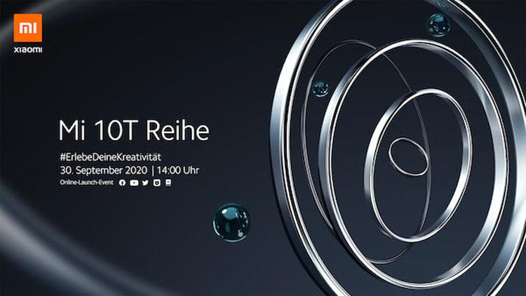 小米10T系列将在9月30日发布