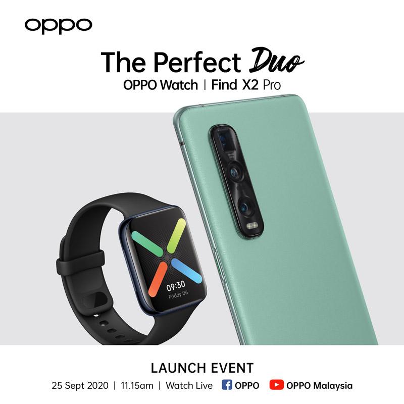 大马OPPO Watch系列将于9月25日发布