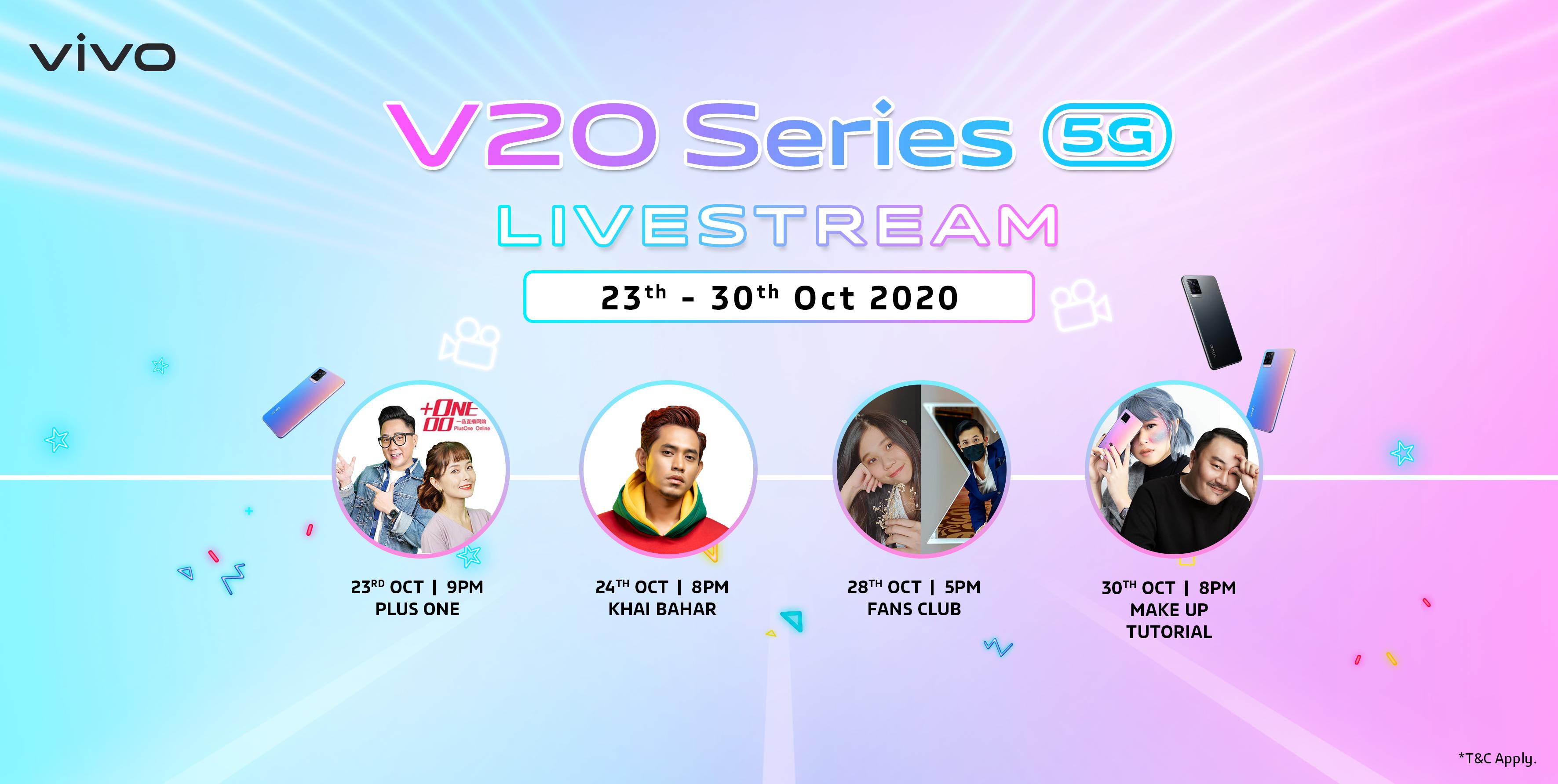 vivo V20系列直播周活动,逾万令吉奖品等你来赢取!
