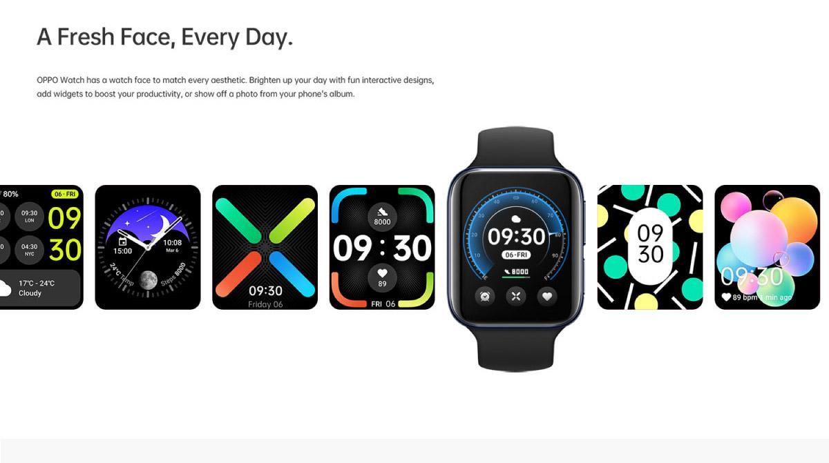 """安卓智能手表中的""""旗舰""""OPPO Watch:全球首款同时搭载谷歌WearOS和双曲面设计,顶级功能+AI穿搭表盘,科技与时尚的结合! 5"""