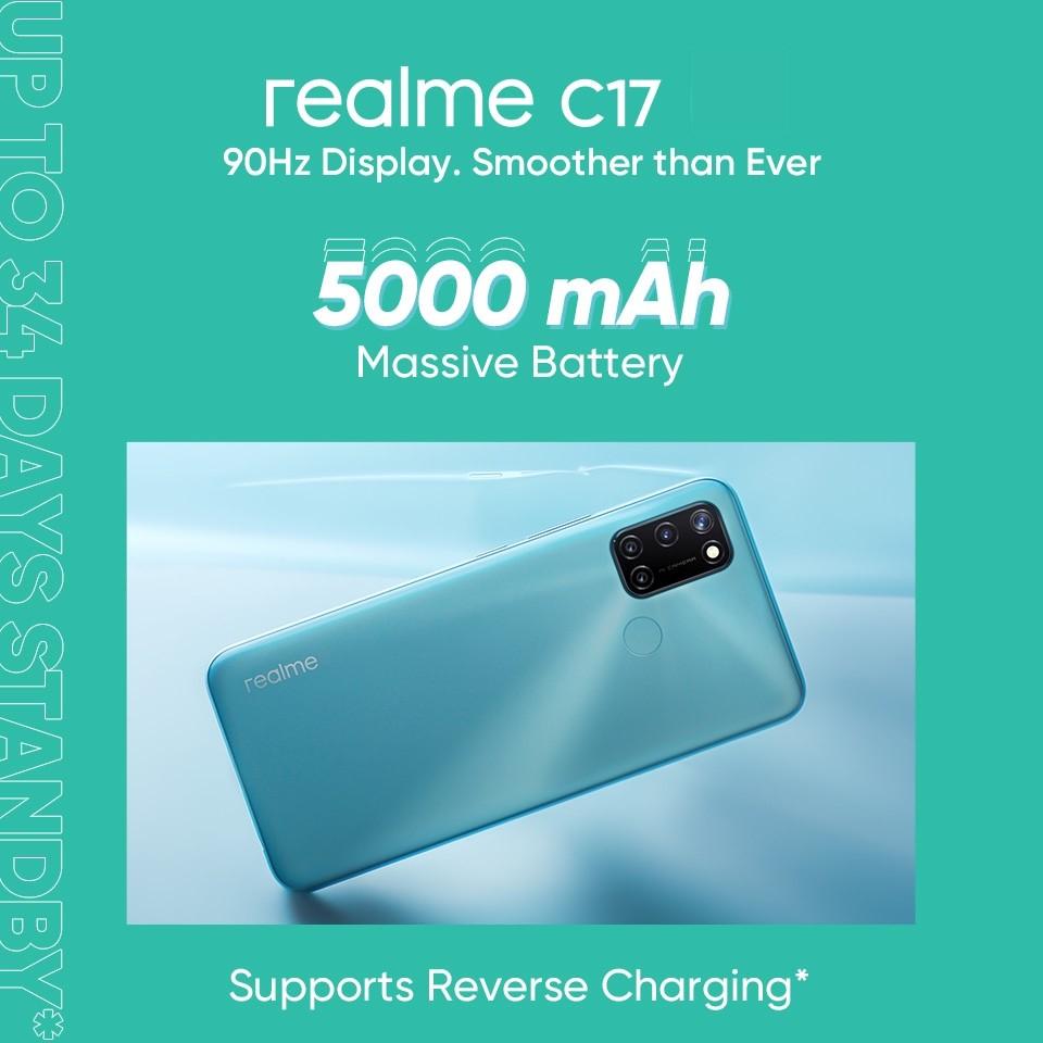 realme C17:6+256GB超大内存,大容量需求用户的福音! 2