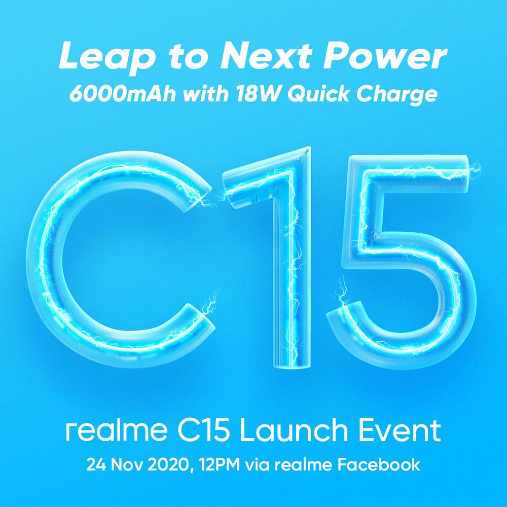 超级续航潮机realme C15:6000 mAh电池+18W快充! 5