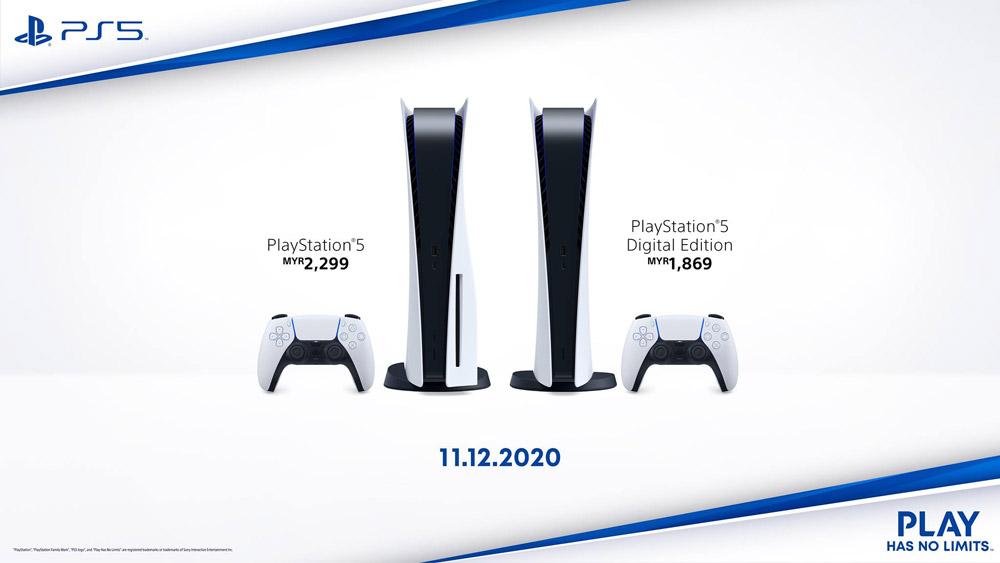 大马Sony PS5 11月12日起开启预购