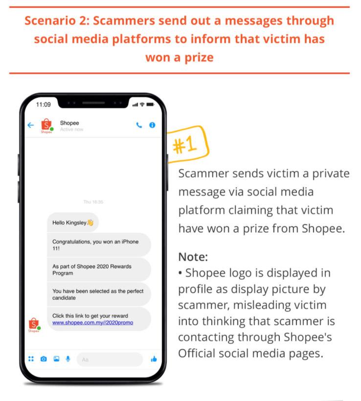 Shopee用户受促提防钓鱼SMS诈骗,勿点击其中链接! 2