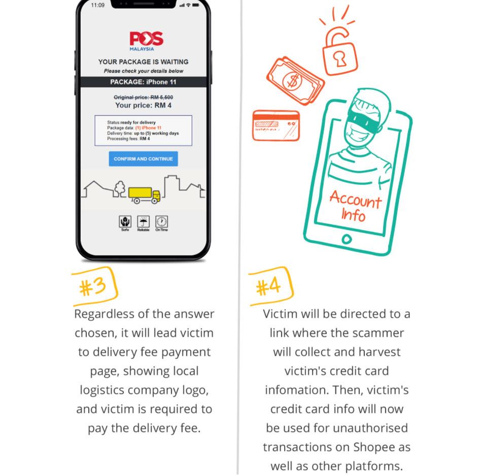 Shopee用户受促提防钓鱼SMS诈骗,勿点击其中链接! 3