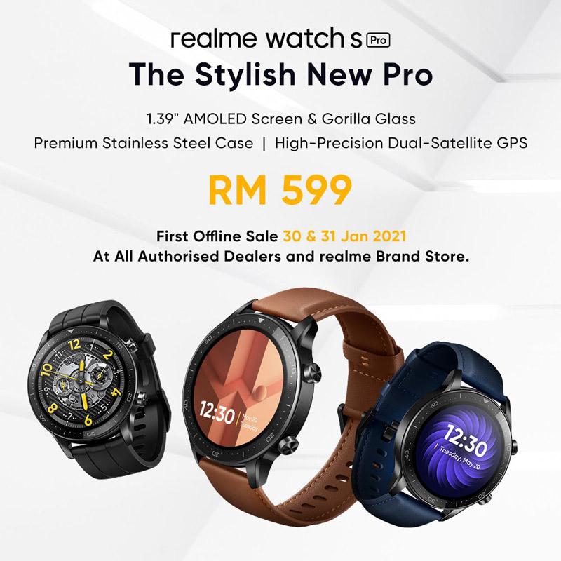 大马realme watch S Pro发布,售价RM599! 2