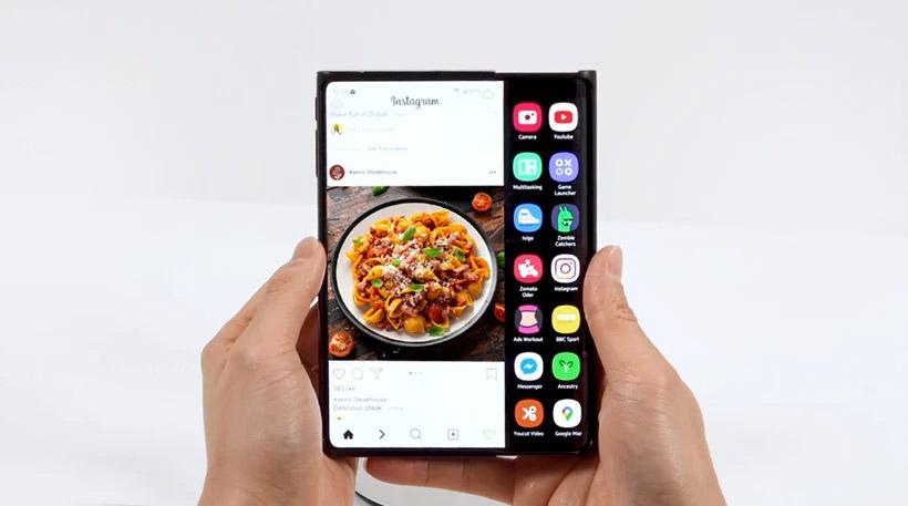 Samsung展示S型折屏手机