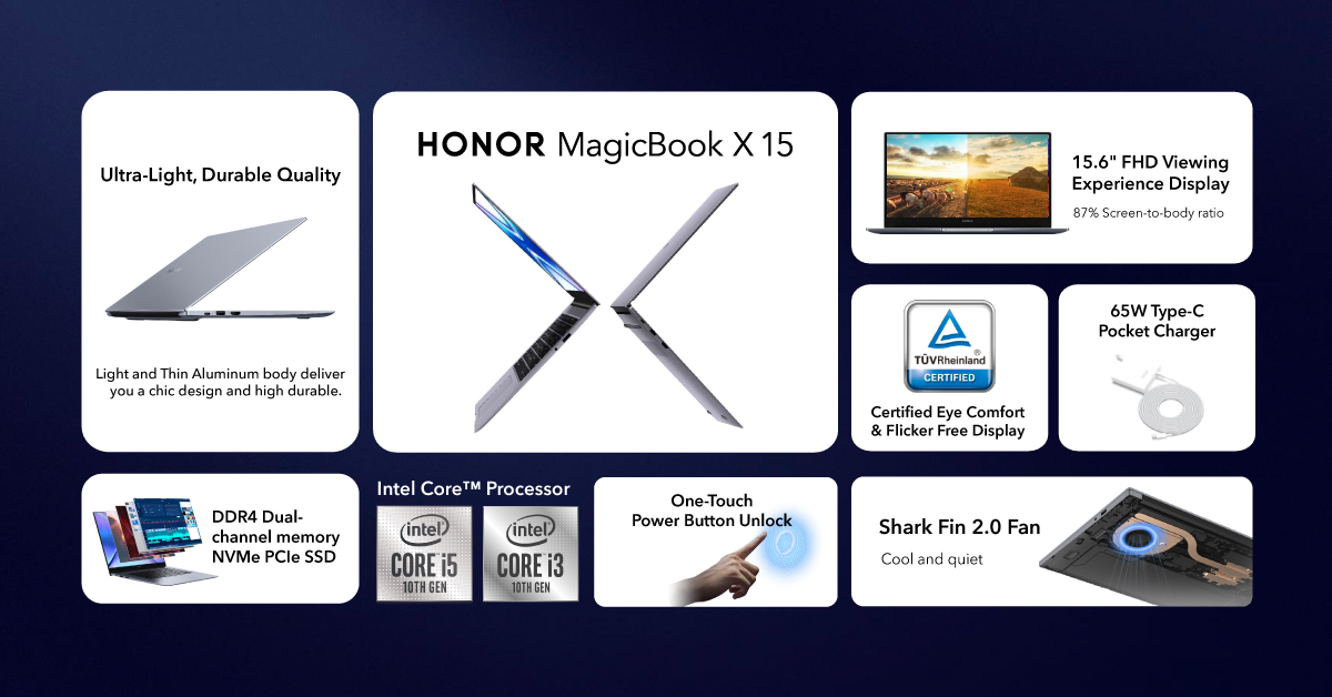 HONOR MagicBook X 15系列笔电6月19日开卖! 为 HONOR 50大马上市布局智能互联 12