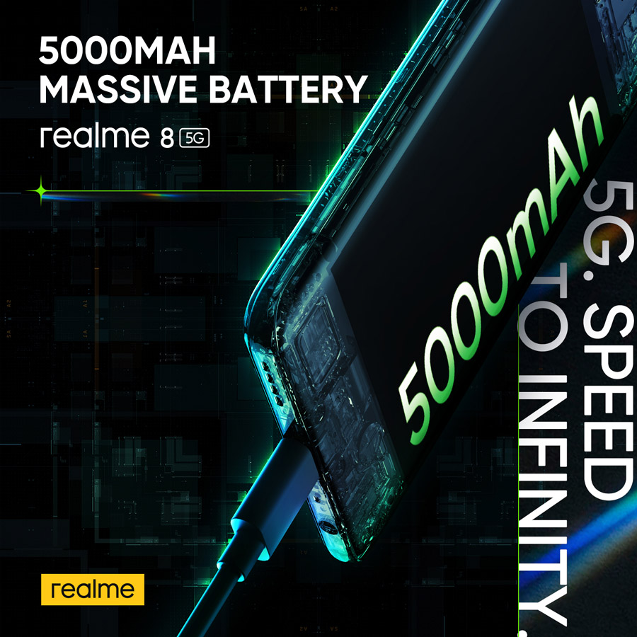 realme 8 5G 搭载DRE动态内存拓展技术,如今可以在Celcom签购并获取免费手机! 4
