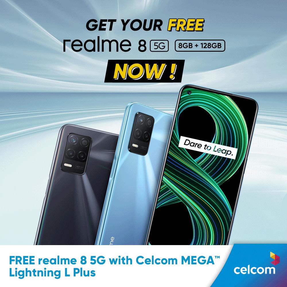 realme 8 5G 搭载DRE动态内存拓展技术,如今可以在Celcom签购并获取免费手机! 10