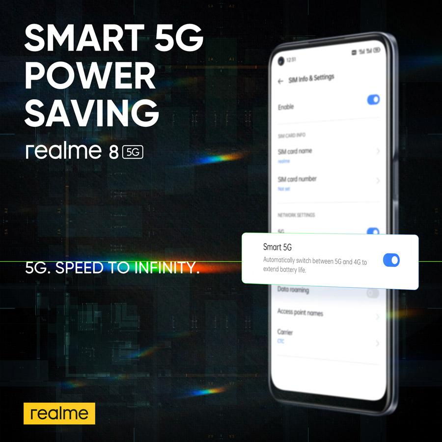 realme 8 5G 搭载DRE动态内存拓展技术,如今可以在Celcom签购并获取免费手机! 5