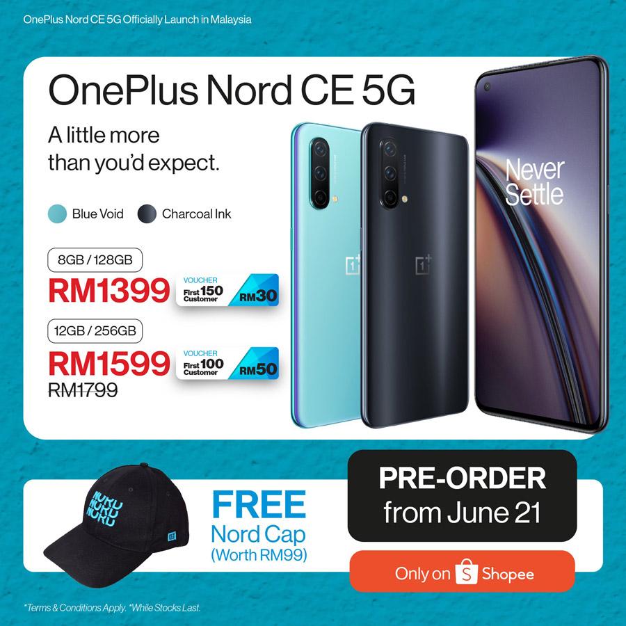 大马OnePlus Nord CE 5G发布