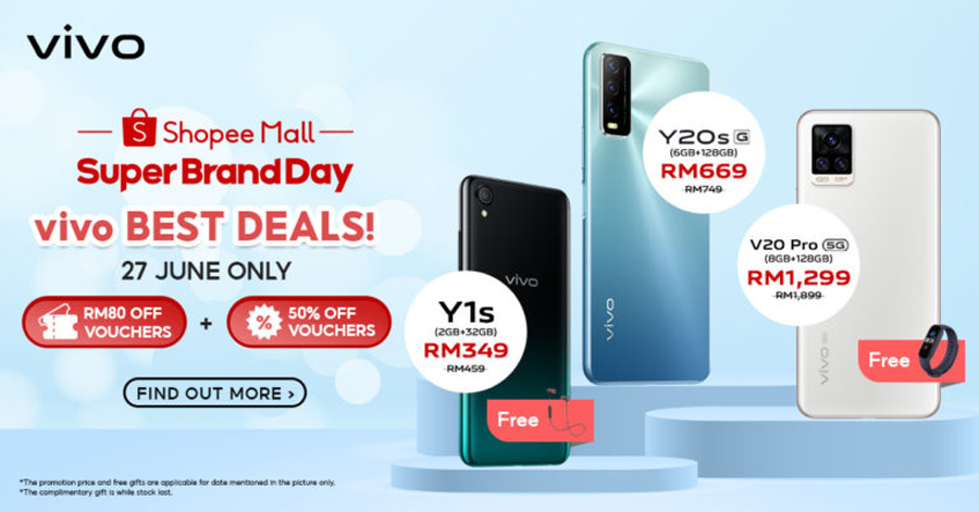 vivo x Shopee超级品牌日:手机优惠仅需RM77起! 3