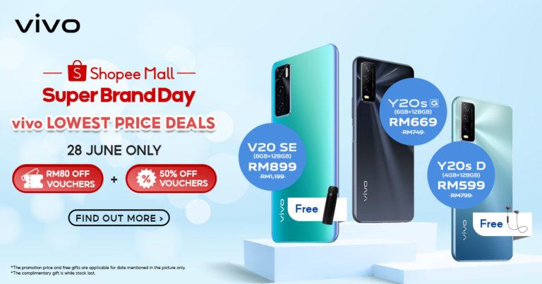 vivo x Shopee超级品牌日:手机优惠仅需RM77起! 2