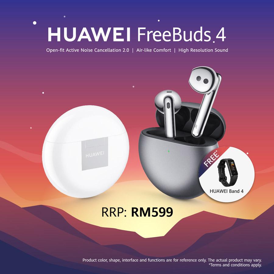大马HUAWEI FreeBuds 4开启预购