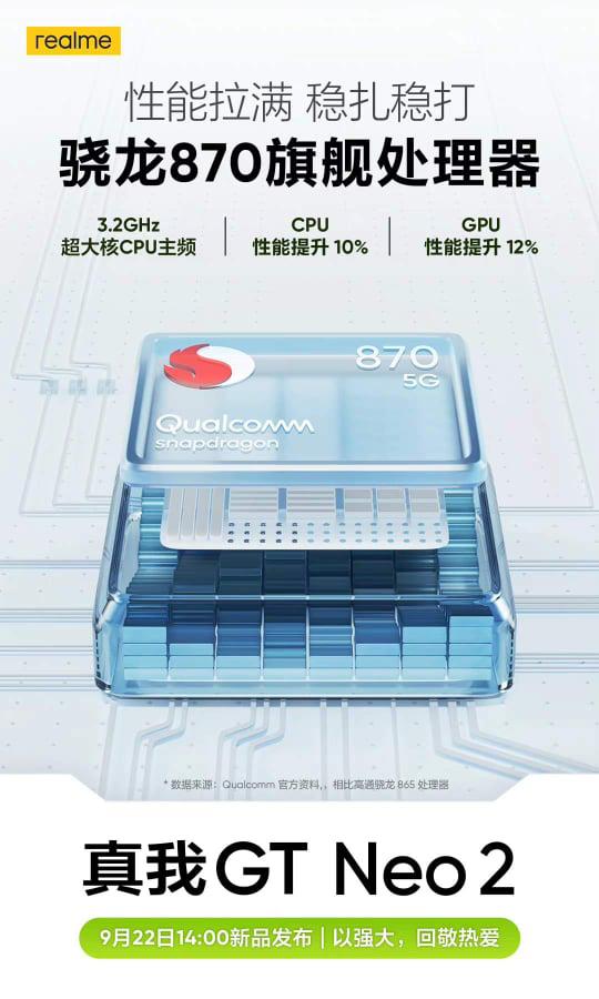 realme GT Neo2配置确定:骁龙870+5000 mAh+65W! 2
